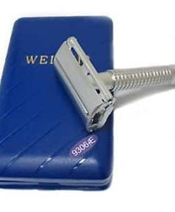 Superb quality safety razor in matt silver finish. Smooth, butterfly opening mechanism - just twist the bottom and then insert a double edge blade for a brilliant, close shave every time. These razors have a nice weight and feel solid in the hand, ideal for beginners or the more experienced wet shaver. Comes in a good quality box with a mirror, cleaning brush and 5 Dorco double edge razor blades.