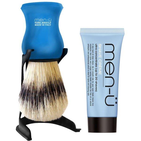 men u barbiere shaving brush stand set befaf men 39 s hair beard grooming. Black Bedroom Furniture Sets. Home Design Ideas