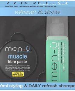 MEN-Ü REFRESH & STYLE - DAILY REFRESH SHAMPOO & MUSCLE FIBRE PASTE at befaf
