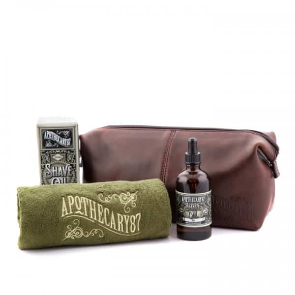 b69cf7225d94 Apothecary 87 Wash Bag Shave Kit with Shave Oil