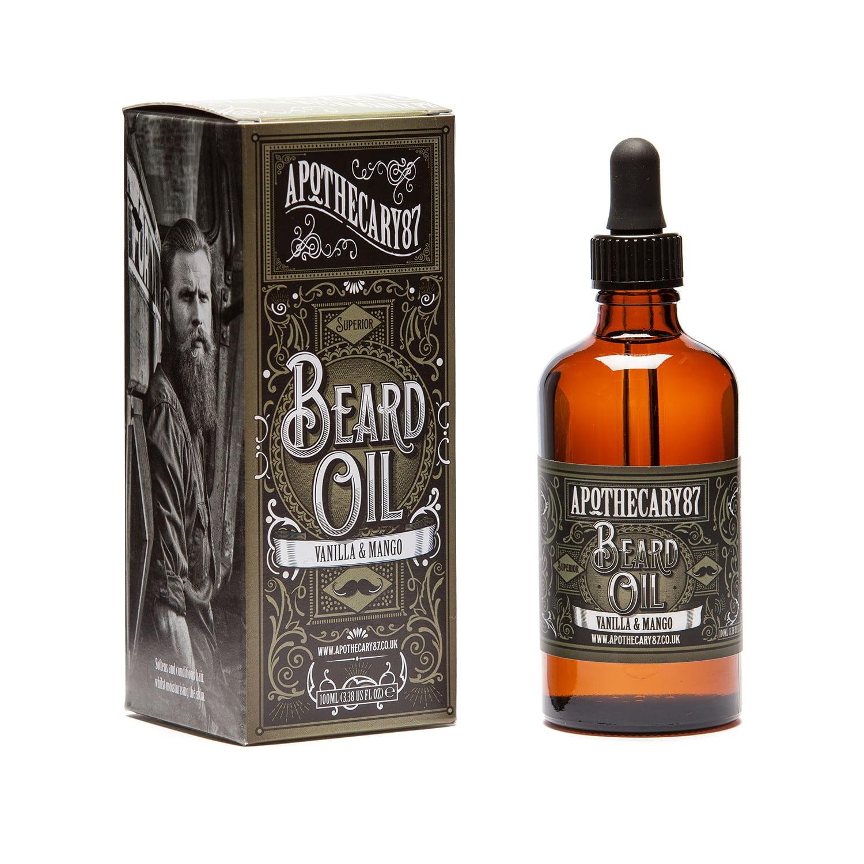 apothecary 87 vanilla mango beard oil 100ml befaf men 39 s hair beard grooming. Black Bedroom Furniture Sets. Home Design Ideas