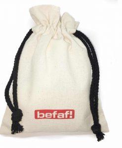 Befaf Draw String Gift bag at www.befaf.co.uk