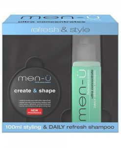 MEN-Ü REFRESH & STYLE - DAILY REFRESH SHAMPOO AND CREATE & SHAPE