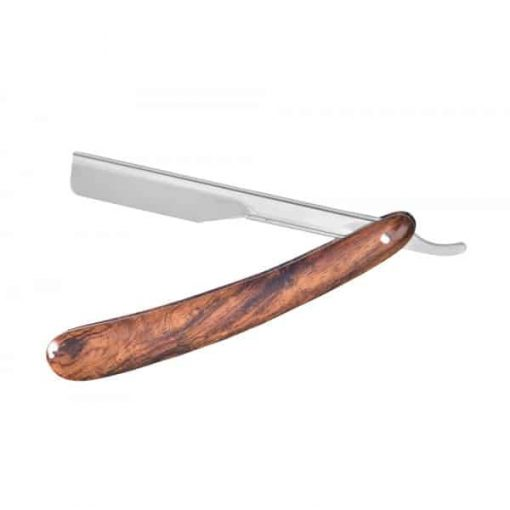 BARBER RANGE CUT THROAT RAZOR - WOODEN HANDLE
