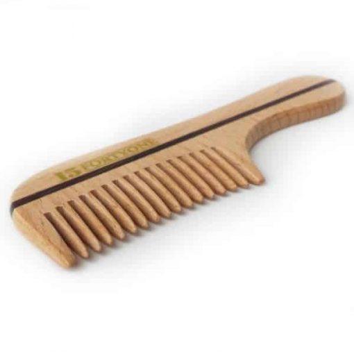 1541 London Bc10 Wooden Moustache & Beard Comb