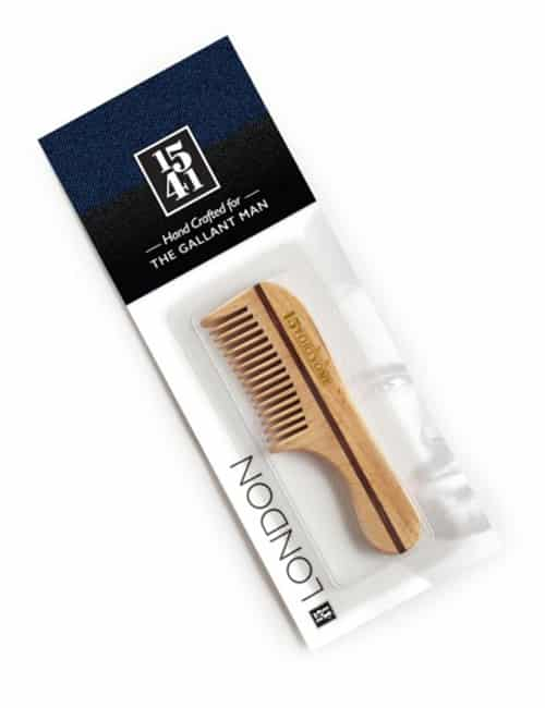 1541 London Bc10 Wooden Moustache & Beard Comb