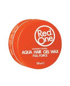 Red One Gel Aqua Hair Wax Full Force Peach Orange - 150ml