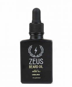 Zeus Beard Oil, Organic Oil - Sandalwood In Tin, 1 Oz.