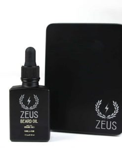 ZEUS BEARD OIL, ORGANIC OIL - VANILLA RUM IN TIN, 1 OZ.