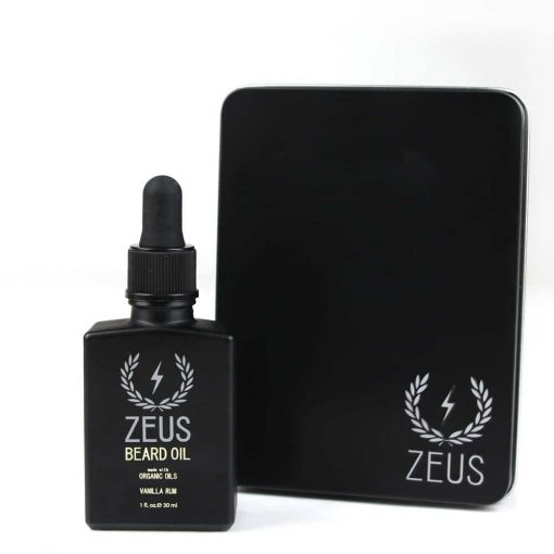 Zeus Beard Oil Organic Oil - Vanilla Rum In Tin 1 Oz.