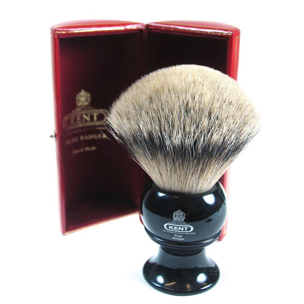 kent brushes large black shaver silvertip badger blk12 befaf men 39 s hair beard grooming. Black Bedroom Furniture Sets. Home Design Ideas