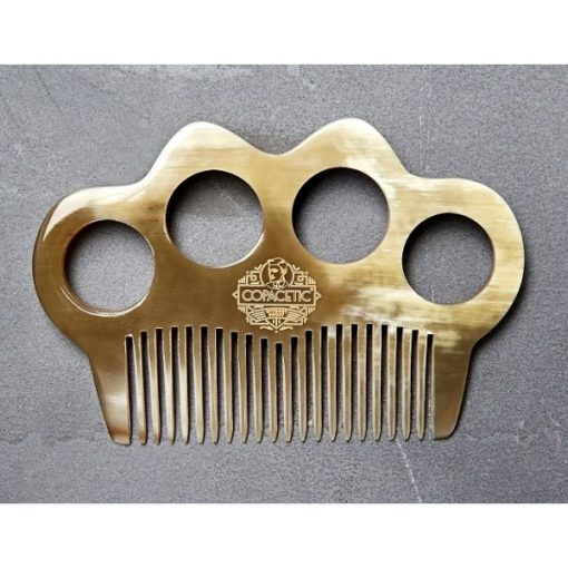 Mens Hair comb. Copacetic Ox Horn Knuckle Duster Comb