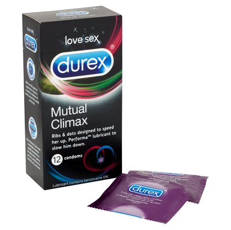 Durex Mutual Climax 12s Condom