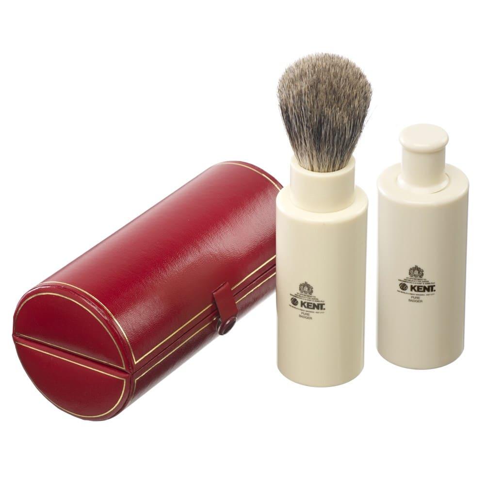 kent brushes travel shaving brush badger shave tr befaf men 39 s hair beard grooming. Black Bedroom Furniture Sets. Home Design Ideas