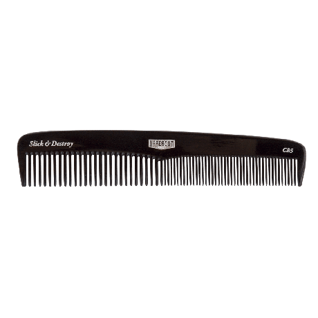 Mens Hair comb, Uppercut Deluxe CB5 Black Comb