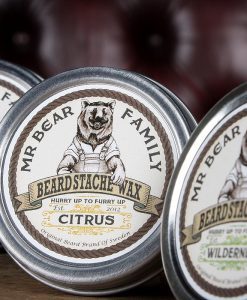r. Bear Beard Stache Wax Citrus