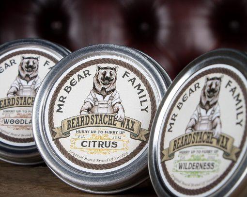 r. Bear Beard Stache Wax Citrus