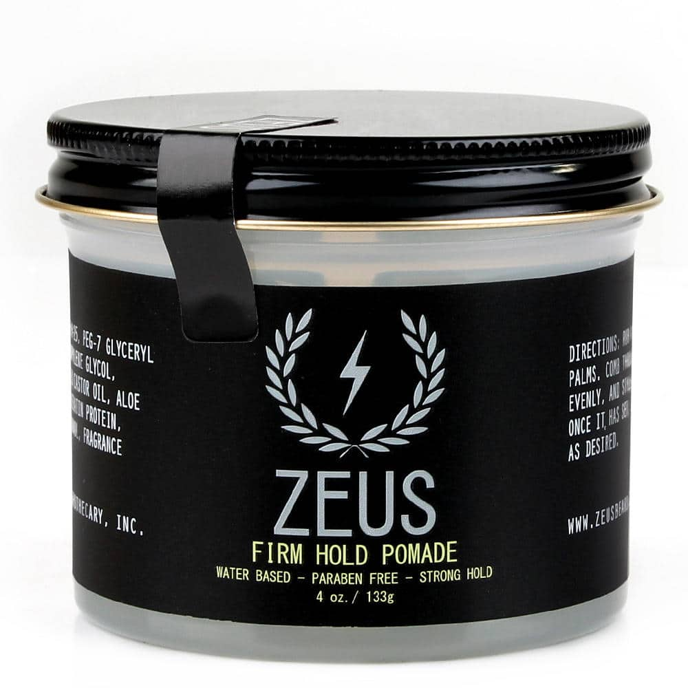 zeus pomade firm hold 4 oz befaf men 39 s hair beard grooming. Black Bedroom Furniture Sets. Home Design Ideas
