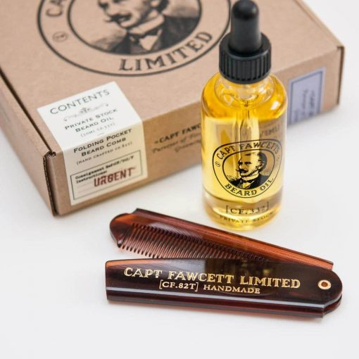 Captain Fawcett Private Stock Beard Oil & Pocket Beard Comb