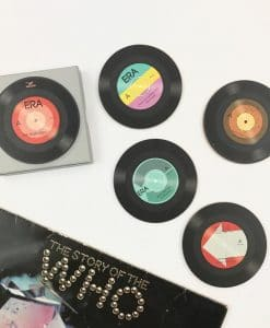 Vintage Retro Set of 4 Record Coasters