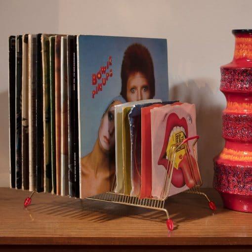 vintage record rack