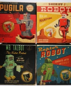 Retro Vintage Japanese Robot Big Mug Set of 4