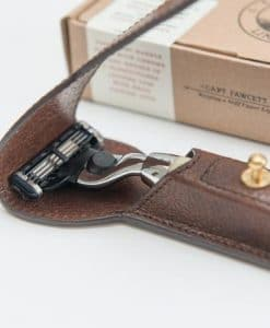 Captain Fawcett Razor and Handcrafted Leather Case