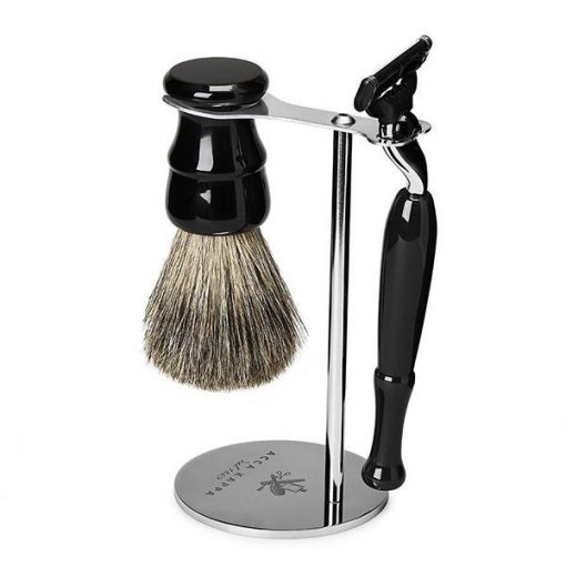Acca Kappa 3-piece Vintage Black Shaving Set With Badger Brush
