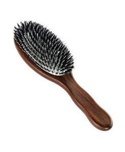 Acca Kappa Pneumatic Kotib_ Wood Oval Brush With Boar Bristle and Nylon Monofilament