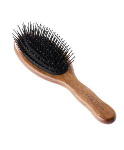 Acca Kappa Pneumatic Kotib_ Wood Oval Brush With Pom Pins