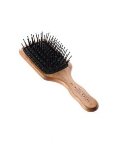 Acca Kappa Pneumatic Kotib_ Wood Paddle Brush With Pom Pins (Travel Size)