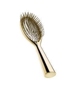 Acca Kappa Special Edition Gold Finish Hairbrush With Natural Rubber Cushion