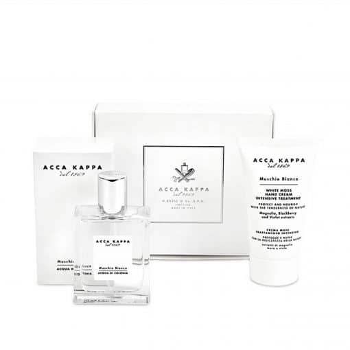 Acca Kappa White Moss Gift Set of Eau De Cologne 50ml and Hand Cream 75ml