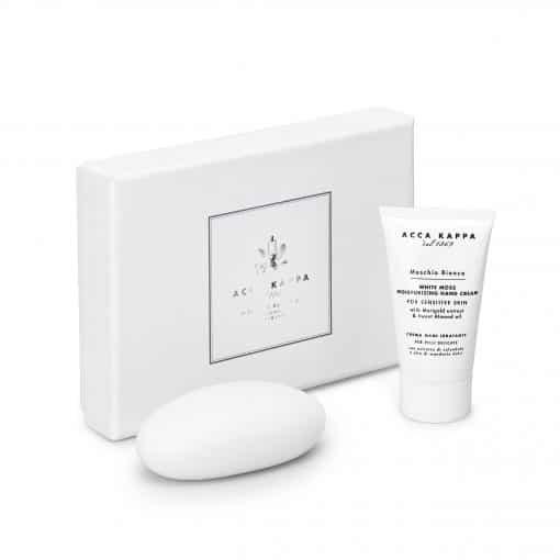 Acca Kappa White Moss Gift Set of Hand Cream 75ml and Soap 150g