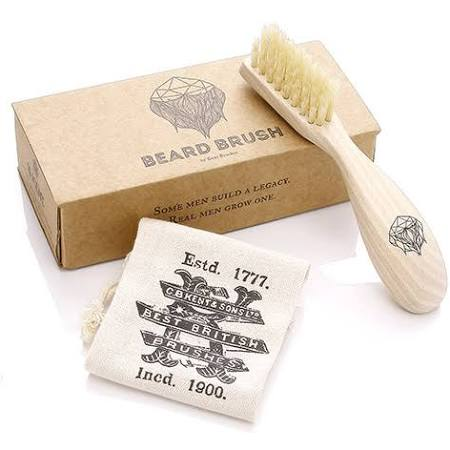 Wooden Right Handed Beard Brush